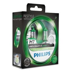 SET H7 ColorVision Green ΚΑΙΝ. PHILIPS 36798028 MULTICAR Fum...