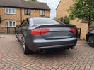 AUDI A4 B8 Look RS4  08-12 REAR SPOILER WITH EXHAUST  / ΠΙΣΩ ΣΠΟΙΛΕΡ