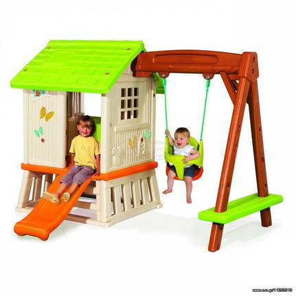d151537fa3e0 Παιδικό Σπιτάκι Κήπου με Τσουλήθρα και Κούνια Smoby (810601) - € 470 ...