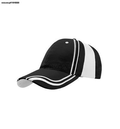 98c568fb8d74 Atlantis Drummer εξάφυλλο καπέλο τζόκεϋ 65% Πολυεστέρας - 35% Βαμβάκι -  BLACK Παλιά Σχεδίαση