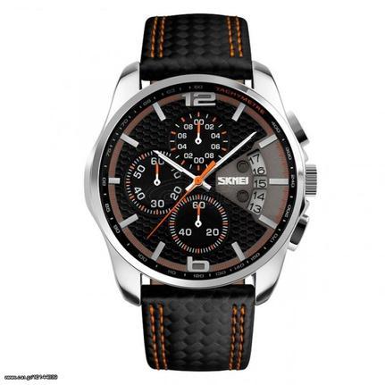 Ανδρικό ρολόι πολυλειτουργικό απο γνήσιο δέρμα - SKMEI 9106 Παλιά Σχεδίαση 378bd612983