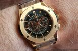 Hublot Big Bang rose gold chronograph αντιγραφο