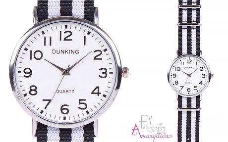 Πωλείται Γυναικείο ρολόι χειρός με μαύρο λευκό ριγέ λουρί by Amaryllida s  Art collection - Dunking 22416 - € 12 d234b8fd1b3