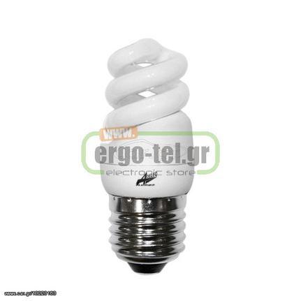 Λάμπα οικονομίας σπιράλ E27 3W(απόδοση 15W) 230V 6400K ψυχρό λευκό φως  110lm διάρκειας 10000h  fdd06a85c54