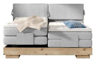 4a37c66dc37 Επενδυμένο κρεβάτι Valve με στρώμα και ανώστρωμα-180 x 200-Γκρι (Μήκος: