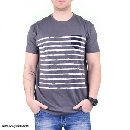 0d37f6a100a Ανδρικό T-shirt Ανθρακί - € 10,99 - Car.gr