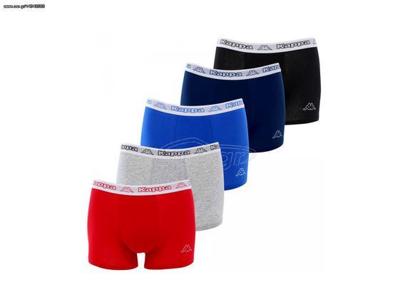 bd4c38b22a7 Kappa Σετ Ανδρικά Μποξεράκια 10 τεμ. Boxer που αποτελείται από 2 Μαύρα, 2  Γκρι, 2 Μπλε ...