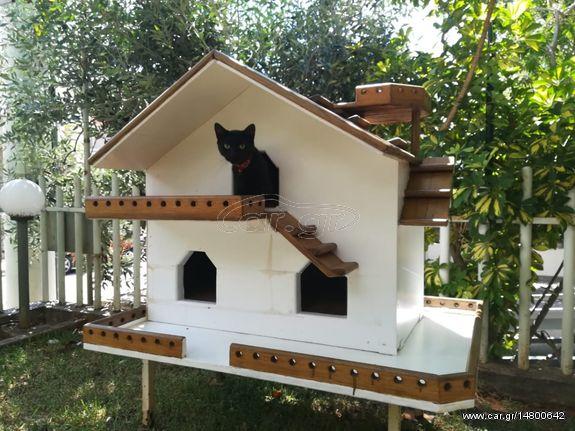 efbf9028afbf Ξύλινο Σπίτι Μεζονέτα για Γάτα Γάτες - € 400 EUR - Car.gr