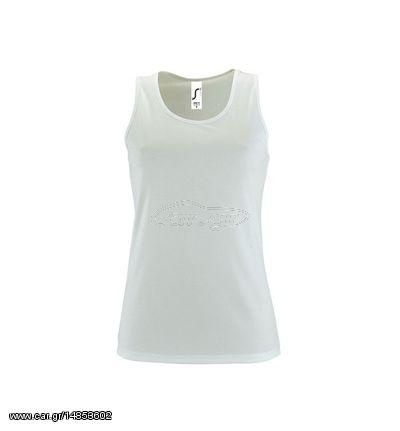 3cdf31c77292 Sol s Sporty TT Women Λευκό 02117 Γυναικείο αθλητικό αμάνικο μπλουζάκι -  WHITE-102 Old Design