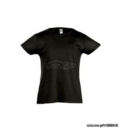 997b4db4829f Sol s Cherry 11981 Κοριτσίστικο T-shirt με κοντά μανίκια - DEEP BLACK-309  Παλιά Σχεδίαση