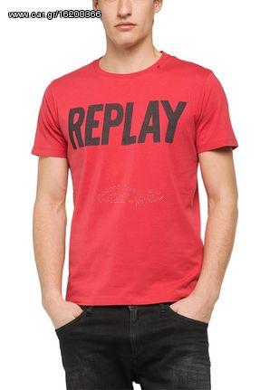 c89ed1d57fd4 Replay ανδρικό logo T-shirt κόκκινο - m3261-000-2660-159 - € 24 EUR ...