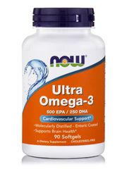 ULTRA OMEGA-3 (500 EPA/250 DHA) Deep Sea Fish Oil, 90 Softgels