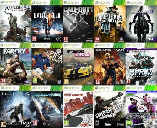 Xbox 360 Games Gnhsia Paixnidia Apo 4 Eyrw 4 Eur Car Gr