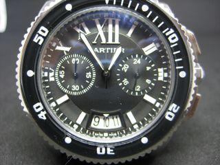 9a251b6a12 Cartier Chronograph Black Rubber Replica