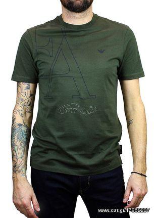 d57f7d6c4224 Ανδρικό T-shirt Emporio Armani EA Logo Khaki - € 39 EUR - Car.gr