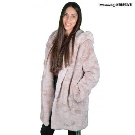 Γυναικείο Γούνινο Παλτό Ροζ - € 59 EUR - Car.gr a6ca657ff57