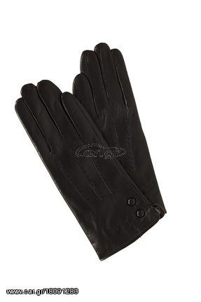 Γυναικεία δερμάτινα γάντια με γούνα μαύρα με εξωτερικά γαζιά - € 35 ... ac1e430fa4c