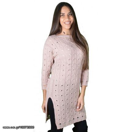ffc6c13ca8bd Γυναικείο Μπλουζοφόρεμα Πλεκτό Ροζ - € 19 EUR - Car.gr