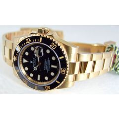 a1ab5c7d1b Rolex Submariner Gold Black Dial Ceramic Bezel