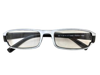 54cb7c11f7 Fashion Zone Unisex Γυαλιά Πρεσβυωπίας Διαβάσματος με Λεπτό Μαύρο-Λευκό  σκελετό και βαθμό +2.00