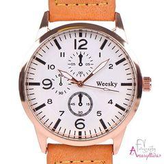 a5257a05b18 Unisex ρολόι χειρός σε ταμπά απόχρωση και διακοσμητικά τρουκς by  Amaryllida's art collection - Weesky 22433