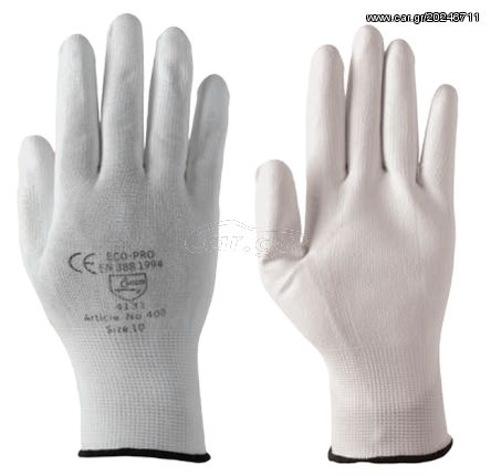 6bb446e32b Ecopro No400-10 Polyester-PU Γάντια Προστασίας Γενικής Χρήσης (Νούμερο 10) Παλιά  Σχεδίαση