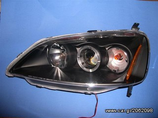 Φανάρια Angel Eyes Honda Civic 2001+