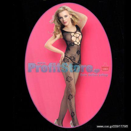 13903517318 Ολόσωμο Σέξι Καλσόν Δαντέλα με Σχέδια στο Μπούστο - Sexy Lingerie  Bodystockings - € 9,90 - Car.gr