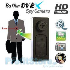 f6d0be8f1e Κρυφή Κάμερα Κουμπί Καταγραφικό - Button Spy Camera DVRX S918