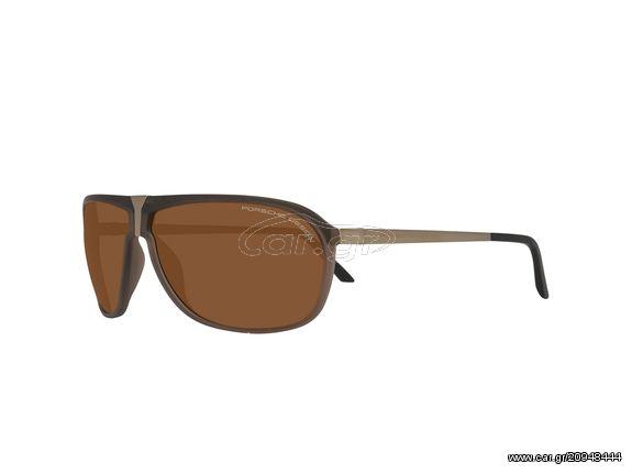 ef94b79182a Porsche Design Ανδρικά Γυαλιά Ηλίου με Χρυσό Καφέ σκελετό, Καφέ Φακό  Καθρέφτη με 100% ...