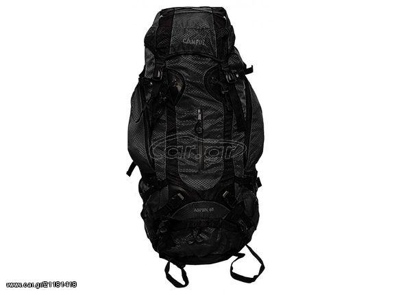 8878b891da Σακίδιο πλάτης μαύρο ASPEN 75lt για ορειβασία-πεζοπορία-camping Παλιά  Σχεδίαση