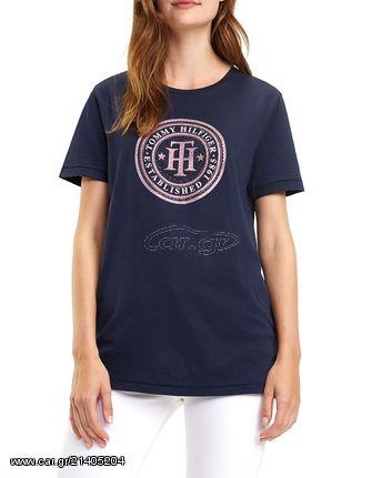 b27175f8cbd1 Γυναικείο T-shirt Tommy Hilfiger Vera C-NK Tee SS Midnight Παλιά Σχεδίαση