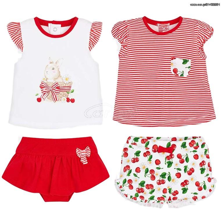 f2a1aa83b02 Mayoral Σετ μπλούζες και παντελόνια κοντά σταμπωτά νεογέννητο κορίτσι - €  27 EUR - Car.gr
