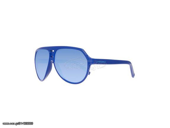 cfebd2f8f4 DSQUARED2 Unisex Γυαλιά Ηλίου με Κοκάλινο Σκελετό Aviator σε Μπλε Χρώμα και  Μπλε Φακούς με Εφέ Καθρέφτη και προστασία 100% UVA