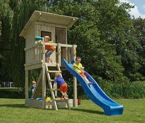 6bf36e16d73a Blue Rabbit Beach Hut 120cm - Ξύλινος πύργος με ύψος τσουλήθρας 120εκ