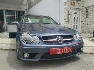 MERCEDES BENZ CLK W209 SPORT GRILLE look SL  BLACK-CHROME / ...