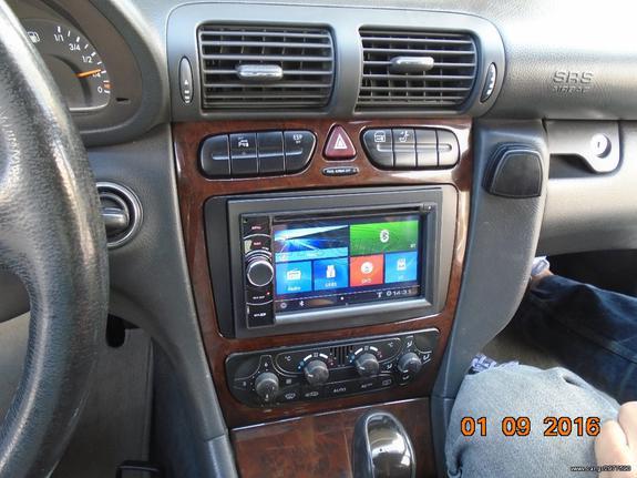 BIZZAR S90 F802 MIRROR LINK MULTIMEDIA GPS ΤΟΠΟΘΕΤΗΜΕΝΗ ΣΕ MERCEDES W 203 C  CLASS    autosynthesis gr - € 1 - Car gr