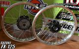 FX-125 WHEELS BLACK-SILVER