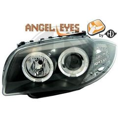 BMW SERIES 1 E81/E87 ANGEL EYES ΜΑΥΡΟ/BLACK