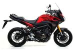 YAMAHA MT-09 15-16 TRACER ARROW ALUMINIUM BLACK CARBON END  ...