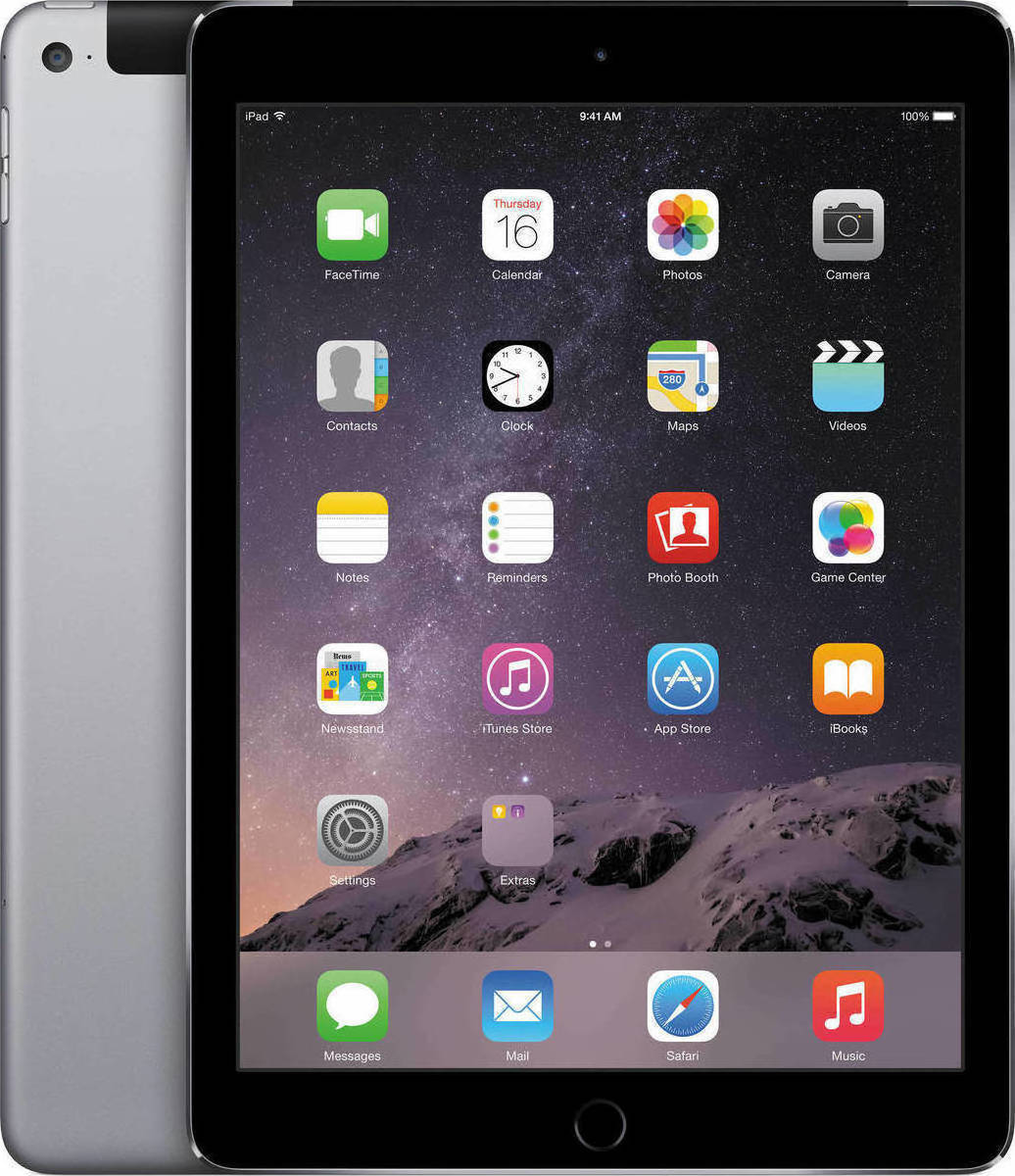 Apple iPad Air 2 WiFi and Cellular (16GB) - € 300 EUR